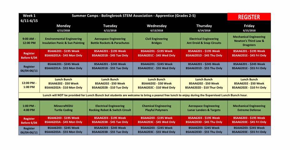 BSA Summer Camp Week 1 Apprentice (Grade 2-5) @ Bolingbrook Community Center
